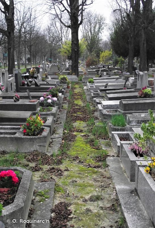 J4.7 - Parties construites des cimetières - EUNIS