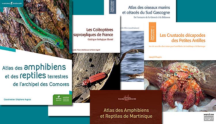 De nouveaux ouvrages naturalistes de référence du MNHN