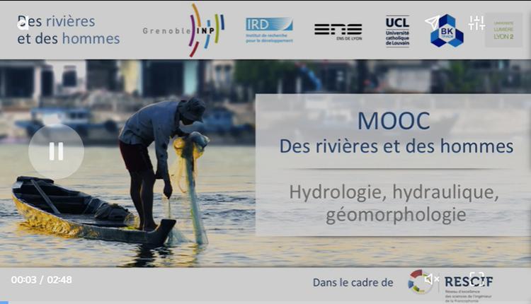 MOOC Hydrologie, hydraulique et géomorphologie appliquées à la gestion des rivières © DR