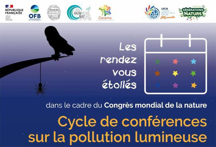 Les rendez-vous étoilés Cycle de conférences sur la biodiversité nocturne, la pollution lumineuse et la trame noire © UMS PatriNat