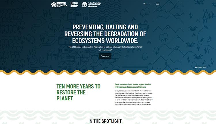La Décennie de l'ONU pour la restauration des écosystèmes 2021-2030 © UN